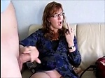 Mature wife drink cum in front of her husband