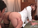 Cute Japaneses lusty blowjob