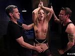Blonde takes huge dick at slave training