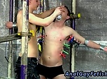 Anal gay sex for men using dildos Aiden is confined and