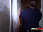 Two female police officers like black cock That much t