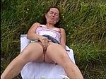 Granny Dogging Masturbating to Teas...