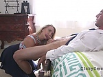 Gagged blonde wife gets double penetration