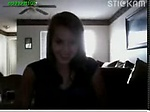 Young teen home alone on cam with her boyfriend