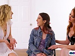 Angel and Devil try to convince lesbian