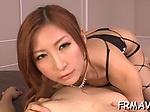 Blissful Japanese blowjob