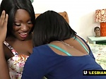 Ebony chicks play around with hitachi on their horny co