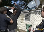 Sexy cops out of reality show go inside a house where b