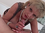 Adulterous british mature lady sonia flashes her massiv
