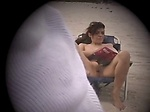 Exhibitionist Wife Lana Flashes on the Beach Exhibitionist Wife Lana Flashes Her Vulva on a Public Beach While Husband ...