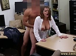 Blonde takes monster white cock Foxy Business Lady Gets