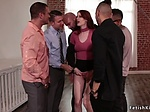 Group of homebuyers fucking redhead bdsm