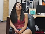Latina babe Alexis Deen ends up fucking in the office