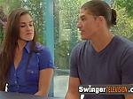 Amateur swingers exchange oral sex ...