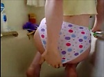 Girl shitting on her panty