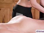 Masseuse Jade Nile massage her client Britney Amber so
