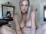 Hot grandma masturbating with dildo...