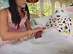 Homemade real family and hot mom seduces playmates tee