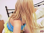Sensual blonde Katie K with firm na...