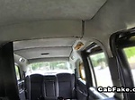 Brunette amateur banged in cab in public