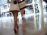 Mini skirt upskirt