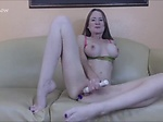 Horny Slut Mom Caught on Couch