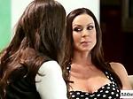 Lesbian babe licks stepmoms busty f...