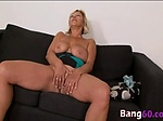 Blonde granny never had a bbc before now