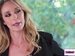 Lesbian hooker seducing busty house...