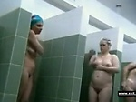 Ordinary females in public shower room