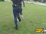 Latino thief is contrived into stuffing milf cops cooch