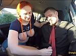 Busty redhead Chloe Davis loves fucking with instructor