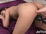 Fantastic Asian cowgirl riding