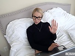 Blonde MILF Sarah Vandella pops her milf pussy for step
