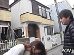 Frisky japanese bombshell gets steamy fucking lesson