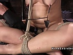 Tied up Milf suffers torment