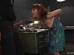 Redhead immigrant anal fucked bondage