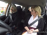 Toned driving student fucks Milf examiner