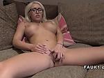 Huge fake tits blonde fucks in uk casting