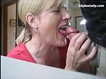Mature mom sucking dick and drink c...