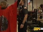 Milf cops barge inside barbershop to take advantage of