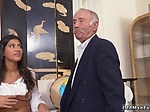 Teen girl fucks step daddy and very old granny Going So