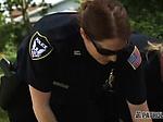White busty cops dominate black suspect