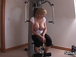 Cheating english mature lady sonia flaunts her large ba