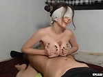 Hot Girl Jerks A Dick With Her Tits