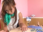 Curvaceous eastern babe Yu Sakura blows then fucks