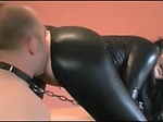 Slave is licking a Mistress asshole