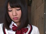 Asian schoolgirl in a dirty action
