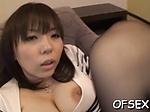 Tasty busty eastern diva Anmi Hasegawa blows then fucks