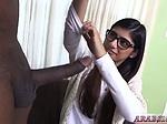Beauty arab booty xxx Mia Khalifa Tries A Big Black Dic